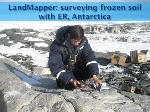 Landmapper survey frozen soils in Antarctica